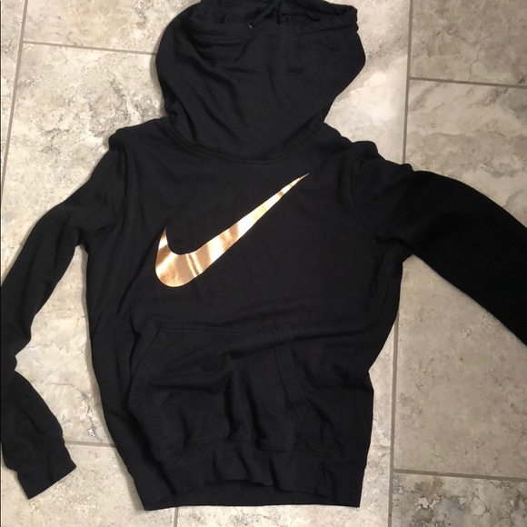 Nike Sweaters Rose Gold Swoosh Hoodie Poshmark